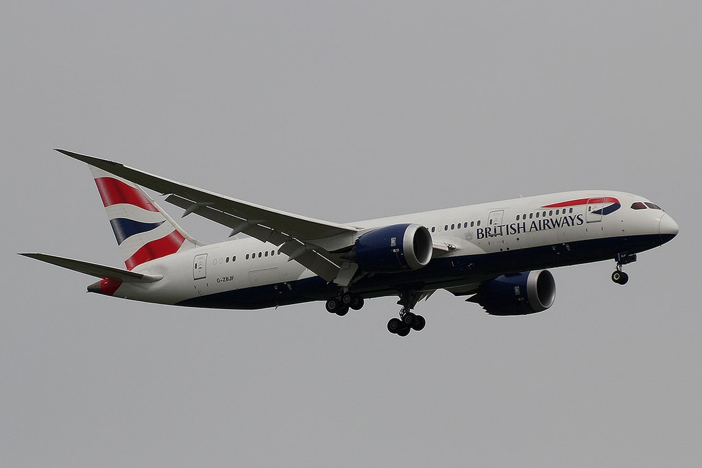 G ZBJF Boeing 787 8 Dreamliner of British Airways at Rajiv Gandhi International Airport