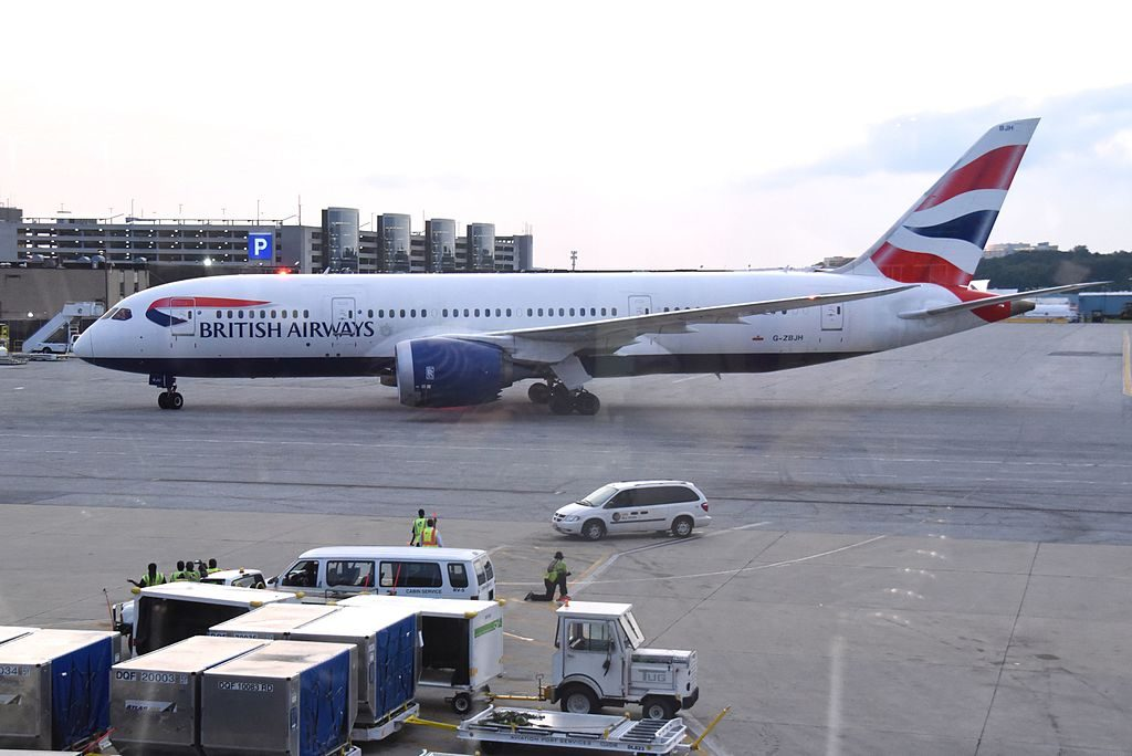 G ZBJH Boeing 787 8 Dreamliner of British Airways at Baltimore Washington International Thurgood Marshall Airport