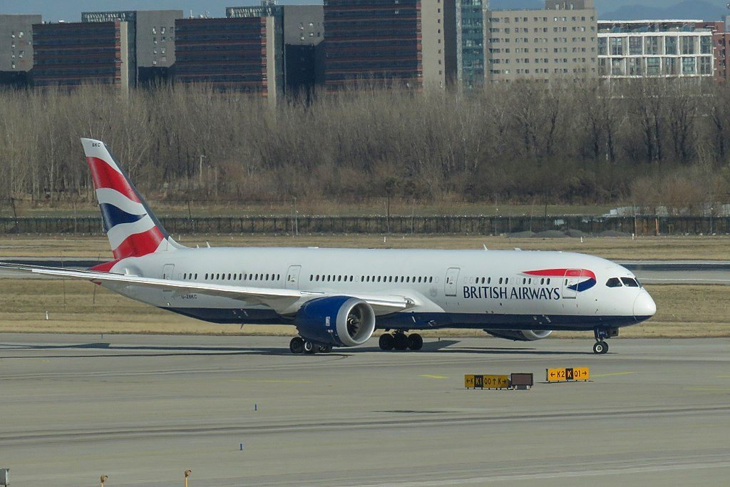 G ZBKC Boeing 787 9 Dreamliner of British Airways at Beijing Capital International Airport