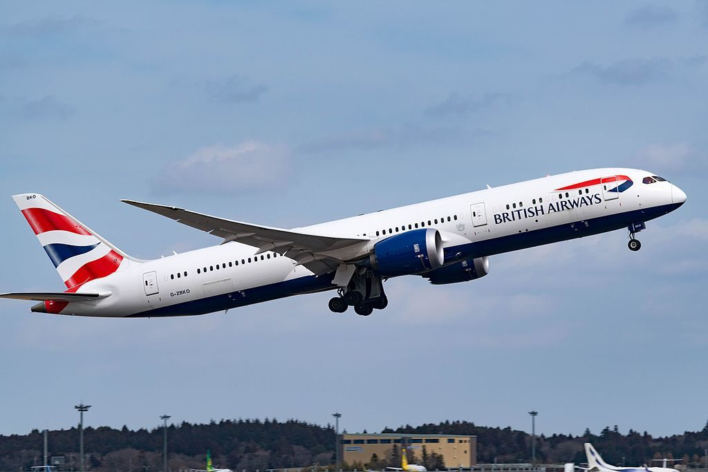 G ZBKO Boeing 787 9 Dreamliner of British Airways at Narita International Airport