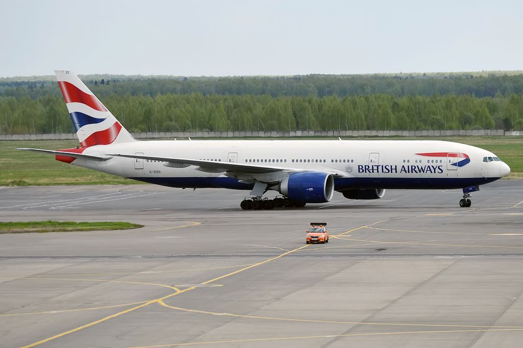 G ZZZC Boeing 777 200 of British Airways at Domodedovo International Airport