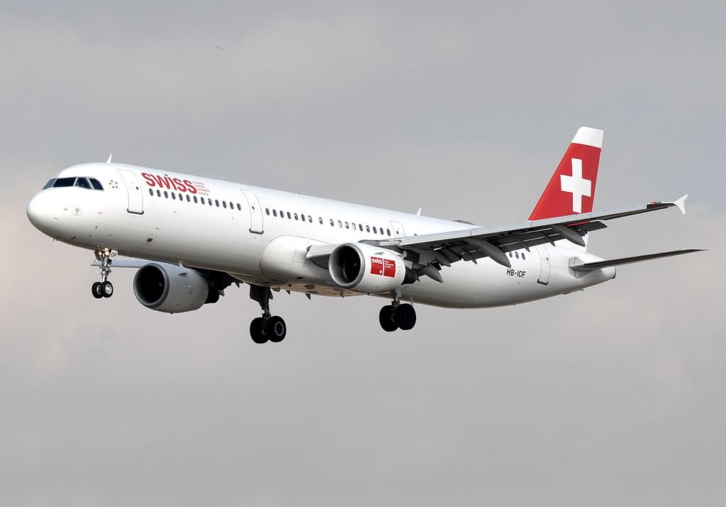 HB IOF Airbus A321 111 of Swiss International Air Lines at Barcelona Airport
