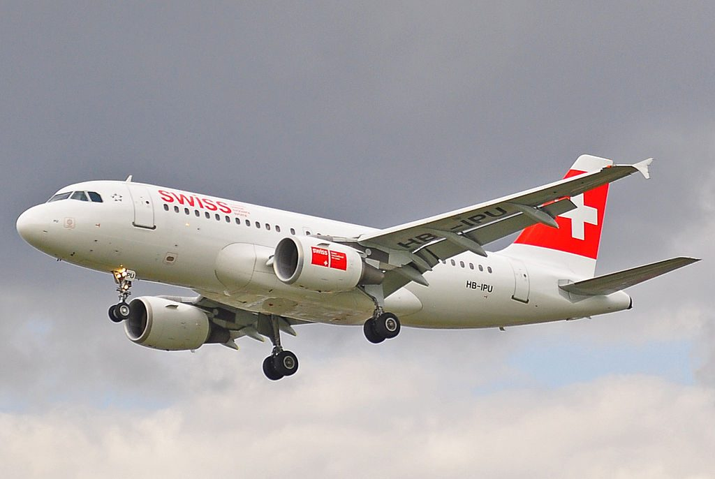 HB IPU Airbus A319 112 of Swiss International Air Lines at London Heathrow Airport