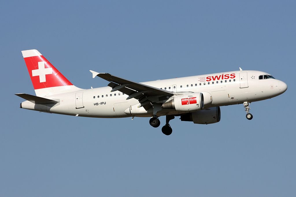 HB IPU Airbus A319 112 of Swiss International Air Lines at Zurich International Airport