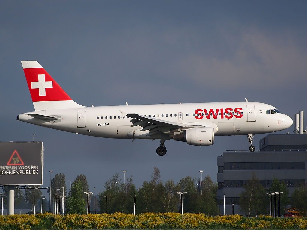 HB IPV Airbus A319 100 of Swiss International Air Lines at Amsterdam Airport Schiphol