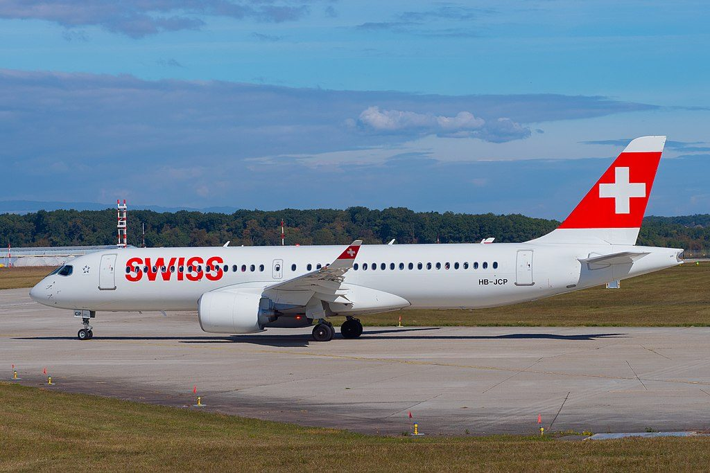 HB JCP Airbus A220 300 of Swiss International Air Lines at Geneva International Airport