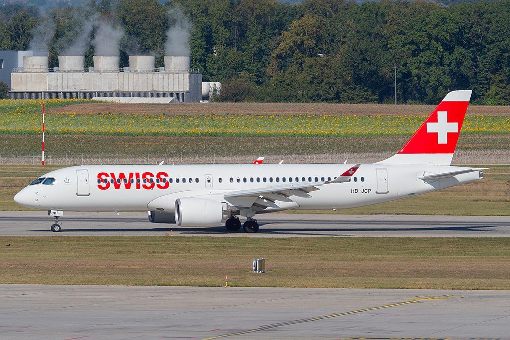 HB JCP Airbus A220 300 of Swiss International Air Lines at Geneva International Airport GVA