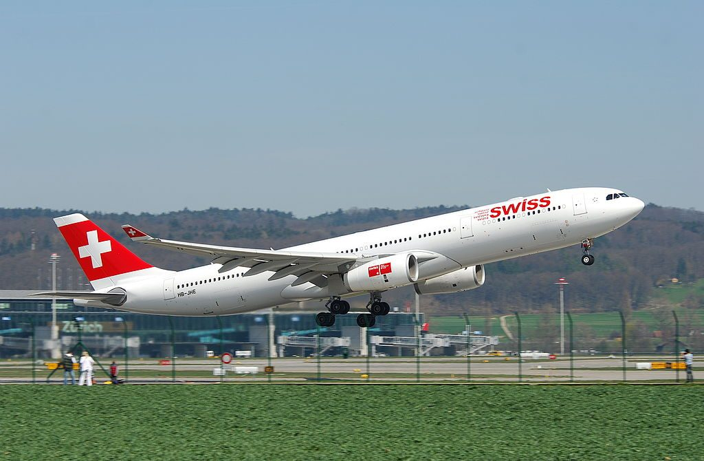 HB JHE Airbus A330 343 Fribourg of Swiss International Air Lines at Zurich International Airport