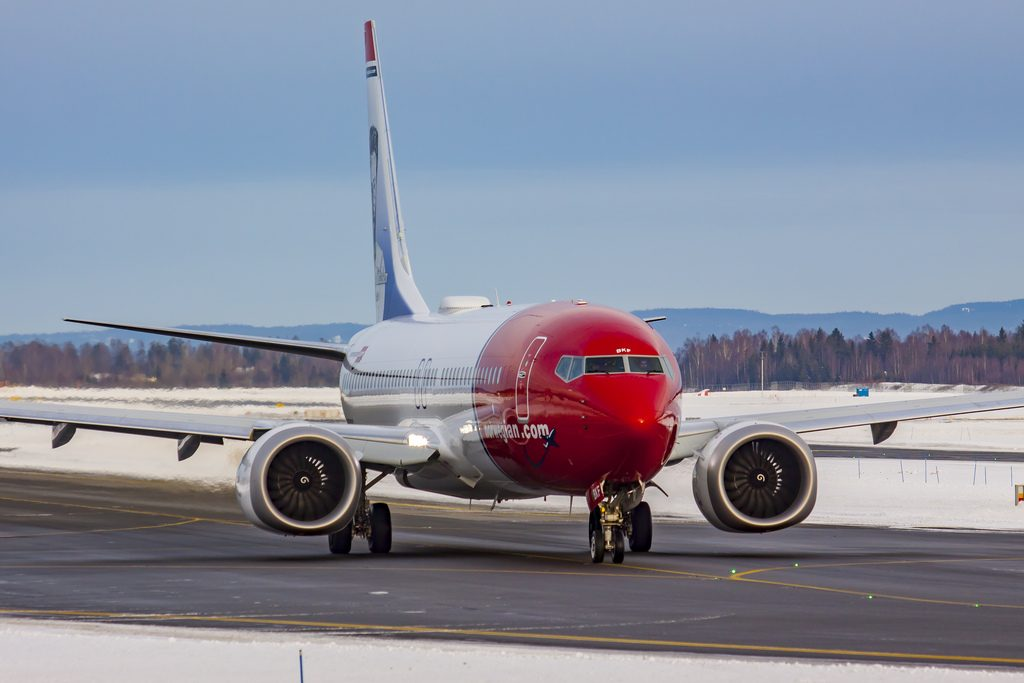 LN BKF Norwegian Air Shuttle Boeing 737 8 MAX Theodor Kittelsen