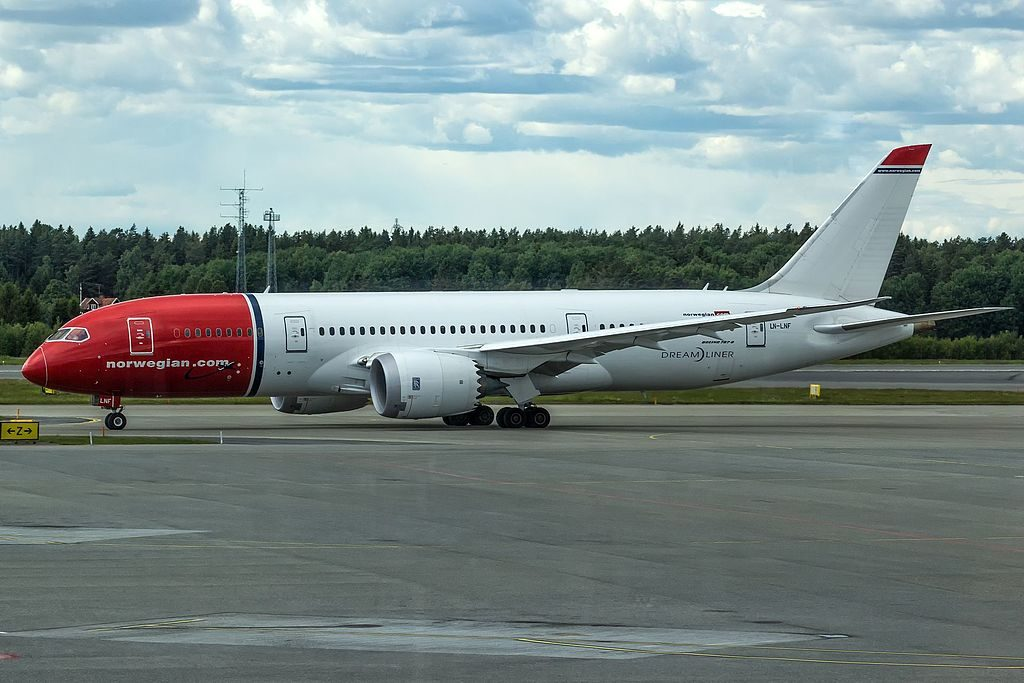 LN LNF Boeing 787 8 Dreamliner of Norwegian Long Haul at Stockholm Arlanda Airport