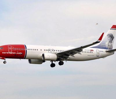 Norwegian Air International Boeing 737 8JPWL EI FHT Amalie Skram at Barcelona Airport