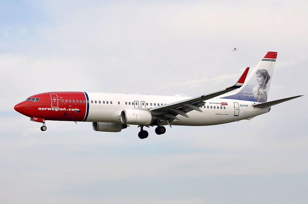 Norwegian Air International Boeing 737 8JPWL EI FHT Amalie Skram at Barcelona Airport