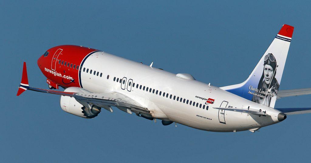 Norwegian Boeing 737 MAX 8 SE RTA Charles Lindbergh