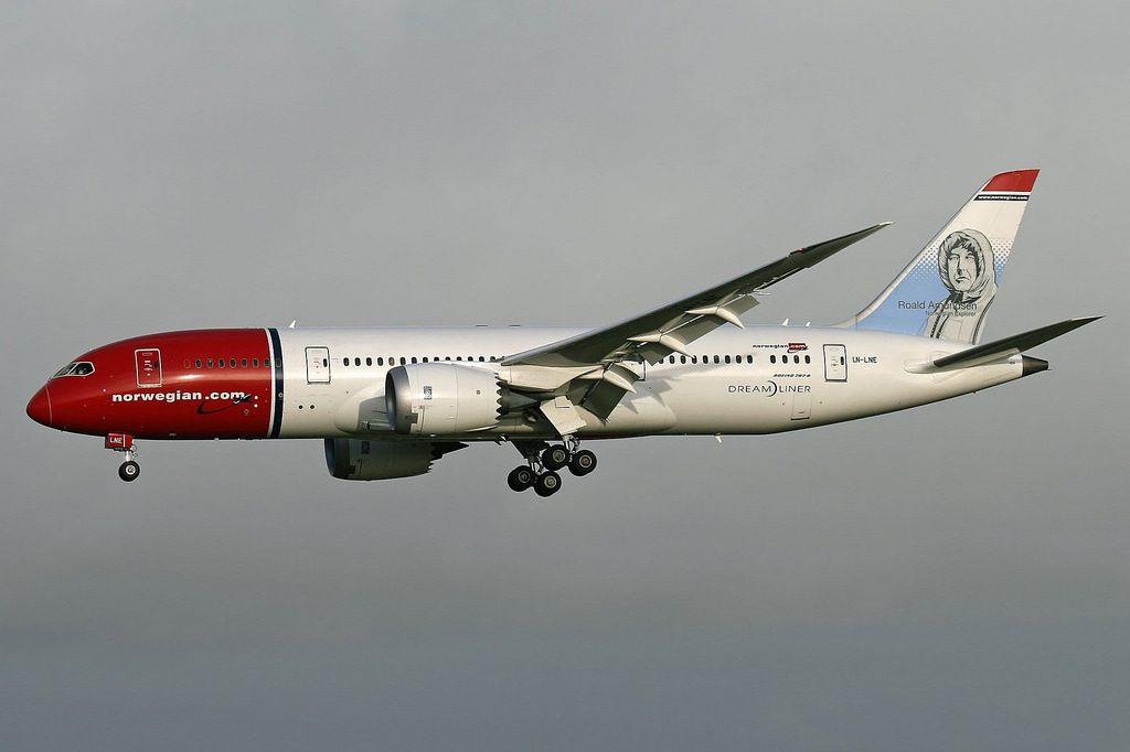 Norwegian Boeing 787 8 Dreamliner LN LNE Roald Amundsen at Shannon Airport