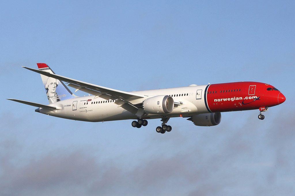 Norwegian Boeing 787 9 Dreamliner G CKWA Étienne de Montgolfier Joseph de Montgolfier at LGW