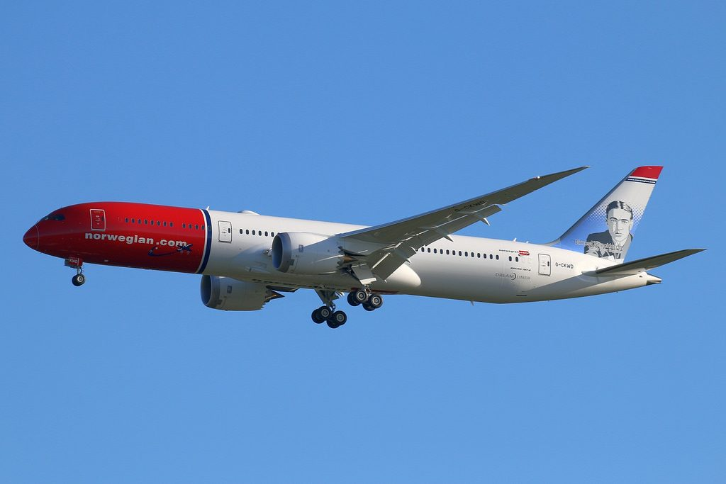 Norwegian Boeing 787 9 Dreamliner G CKWD Ernest Shackleton at LGW