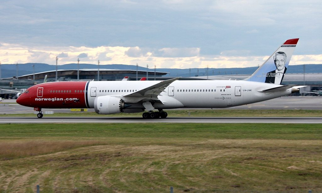 Norwegian Boeing 787 9 Dreamliner LN LNK Victor Borge at Oslo Airport