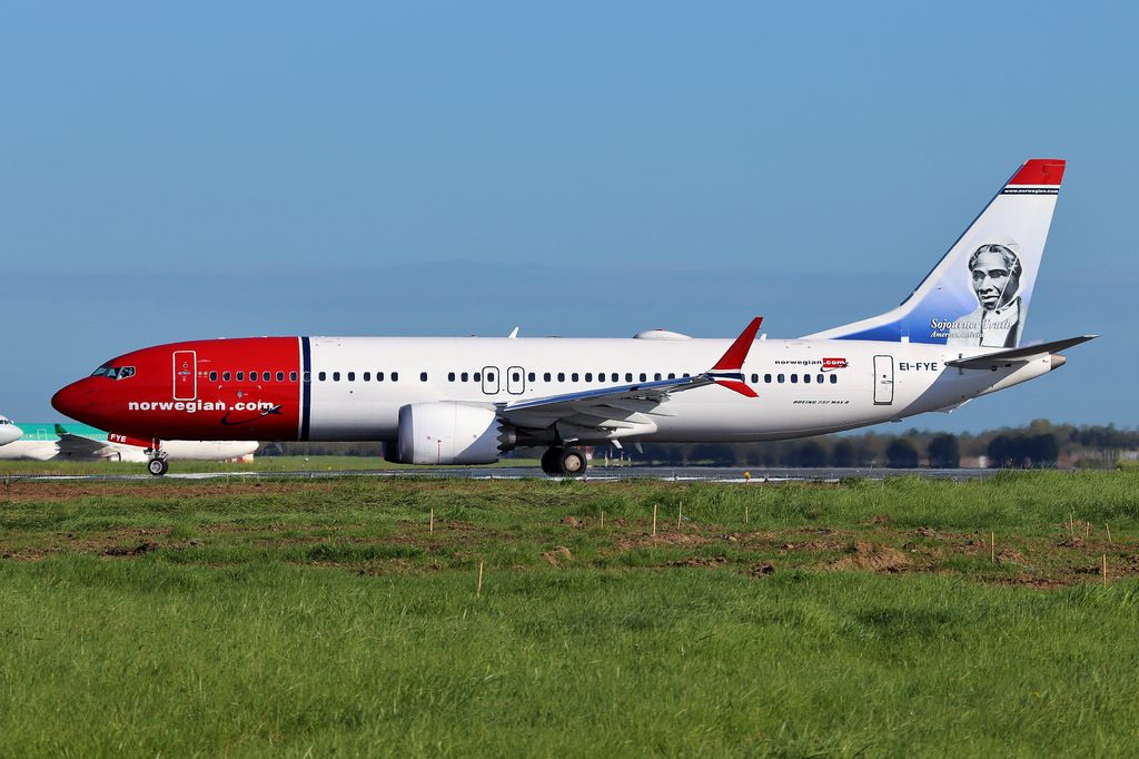 Norwegian EI FYE Boeing 737 MAX 8 Sojourner Truth at Dublin Airport