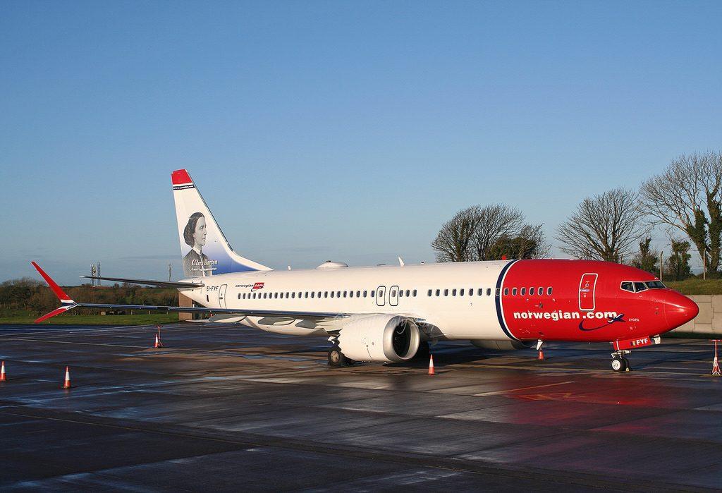 Norwegian EI FYF Boeing 737 MAX 8 Clara Barton