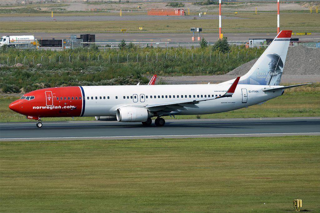 Norwegian Evert Taube livery EI FHH Boeing 737 8FZWL at Helsinki Vantaa Airport
