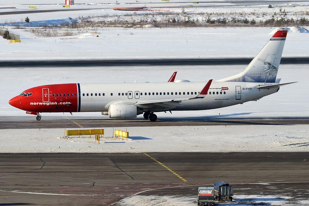 Norwegian Soren Kierkegaard livery EI FHP Boeing 737 8JPWL at Helsinki Vantaa Airport