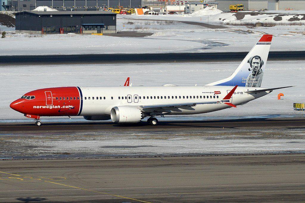 Norwegian Tom Crean Livery EI FYB Boeing 737 8 MAX at Helsinki Vantaa Airport