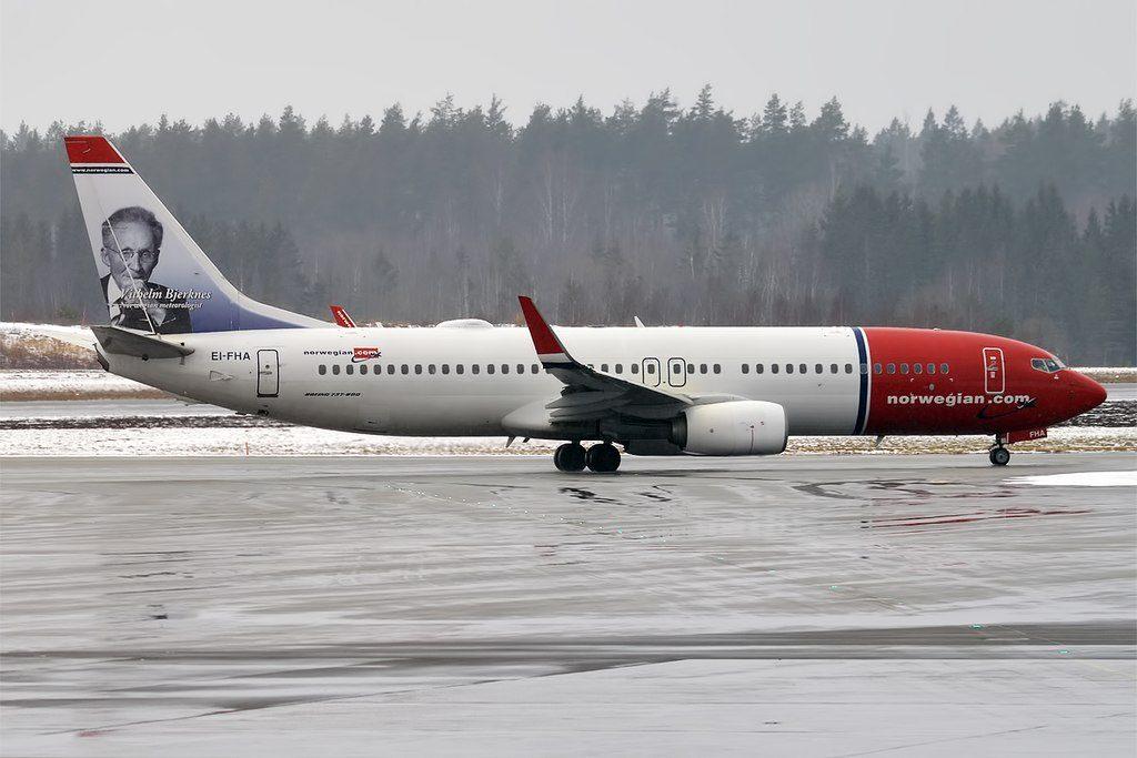 Norwegian Vilhelm Bjerknes Livery EI FHA Boeing 737 8JPWL at Stockholm Arlanda Airport