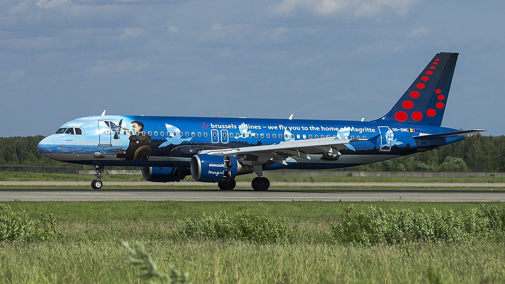OO SNC Airbus A320 214 Brussels Airlines Magritte Livery at Domodedovo International Airport