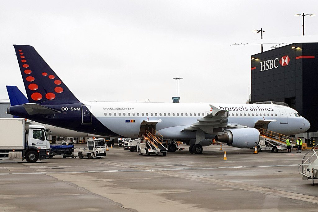 OO SNM Airbus A320 200 of Brussels Airlines at London Heathrow Airport