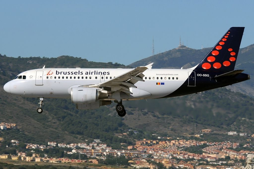 OO SSG Airbus A319 112 Brussels Airlines at Málaga Airport