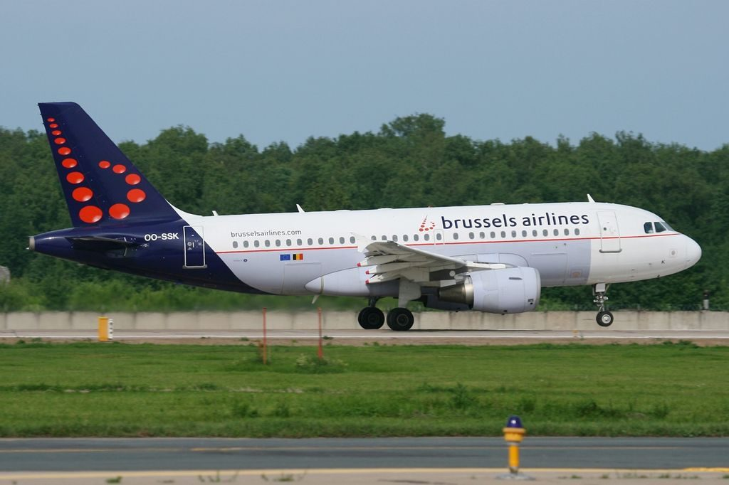 OO SSK Airbus A319 112 Brussels Airlines at Domodedovo International Airport