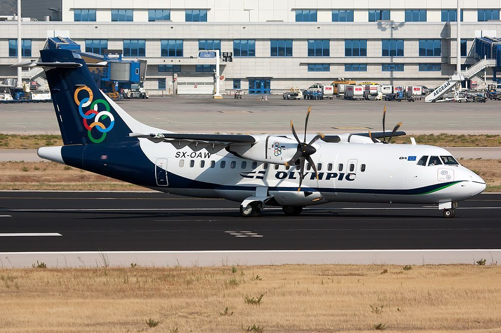 Olympic Air ATR 42 600 SX OAW at Athens Eleftherios Venizelos Intl Airport