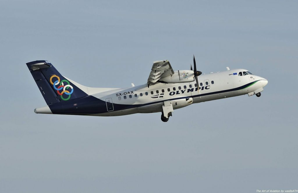 Olympic Air SX OAX ATR 42 600 at Athens International Airport