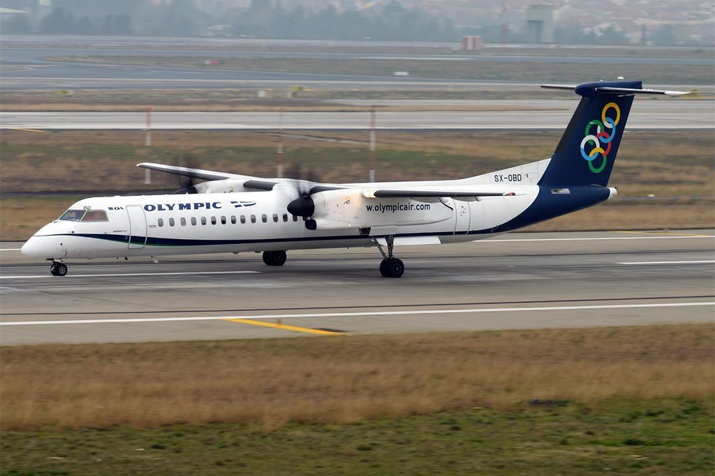 Olympic Air SX OBD Bombardier Dash 8 Q400 at Istanbul Atatürk Airport