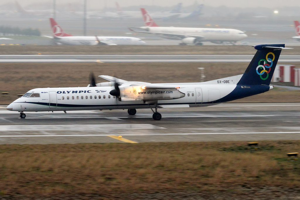 Olympic Air SX OBE Bombardier Dash 8 Q400 at Istanbul Atatürk Airport