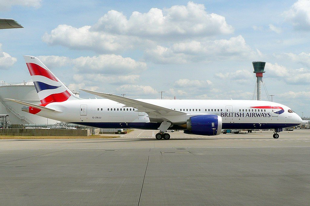 Paul Jarvis G ZBJJ Boeing 787 8 Dreamliner of British Airways at London Heathrow Airport