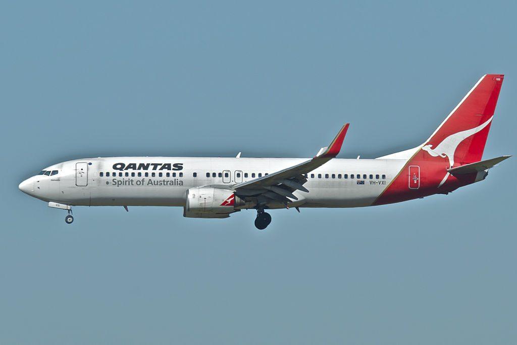Qantas Boeing 737 800WL VH VXI Oodnadatta at Brisbane Airport