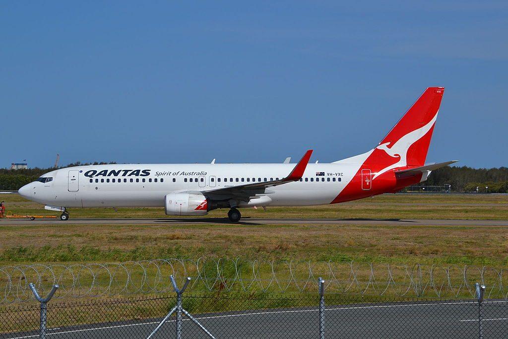 Qantas Boeing 737 838WL VH VXC Gippsland at Brisbane Airport