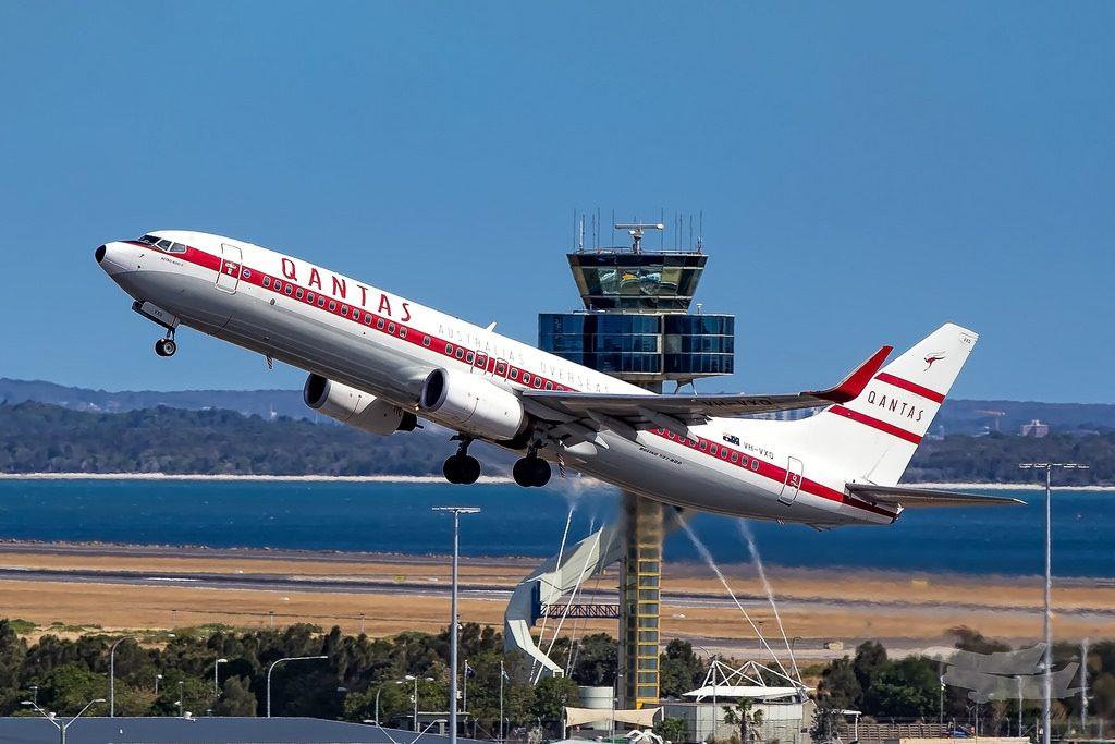 Qantas Boeing 737 838WL VH VXQ Retro 1959 Livery Retro Roo II