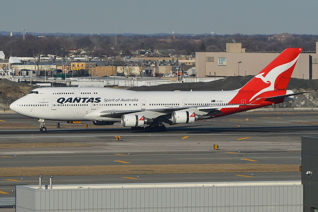 Qantas Boeing 747 438ER VH OEE Nullarbor at John F. Kennedy International Airport