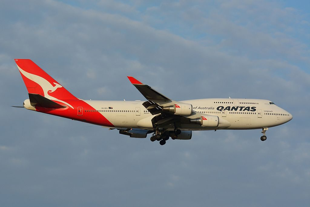 Qantas Boeing 747 438ER VH OEH Hervey Bay at Narita International Airport