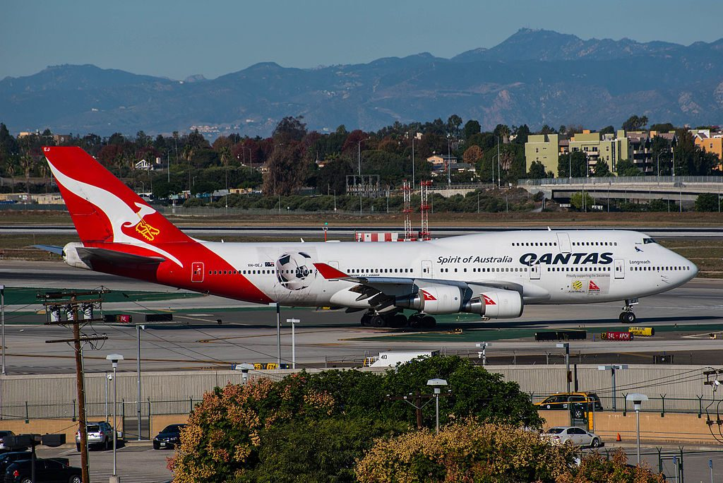 Qantas Boeing 747 438ER VH OEJ Wunala at Los Angeles International Airport