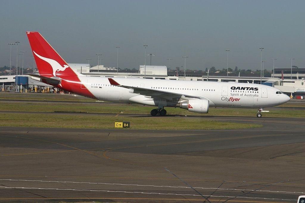 Qantas Cityflyer VH EBB Airbus A330 200 Albany at Sydney Kingsford Smith