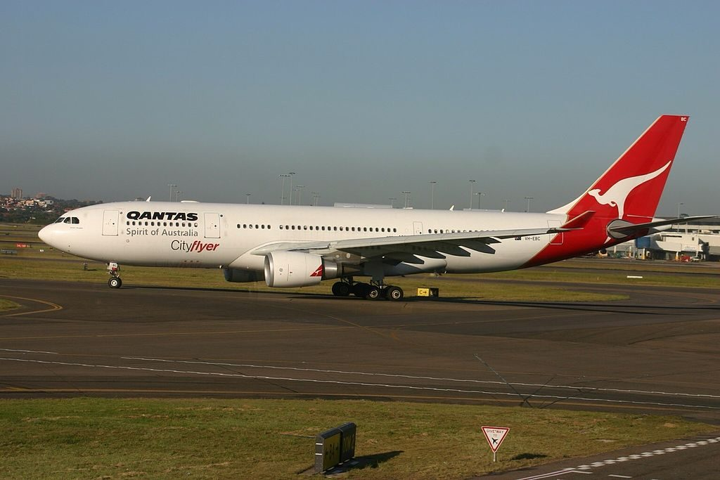 Qantas Cityflyer VH EBC Airbus A330 200 Surfers Paradise at Sydney Kingsford Smith