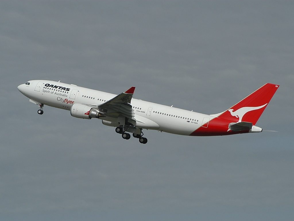 Qantas VH EBA Airbus A330 200 Cradle Mountain at Sydney Airport
