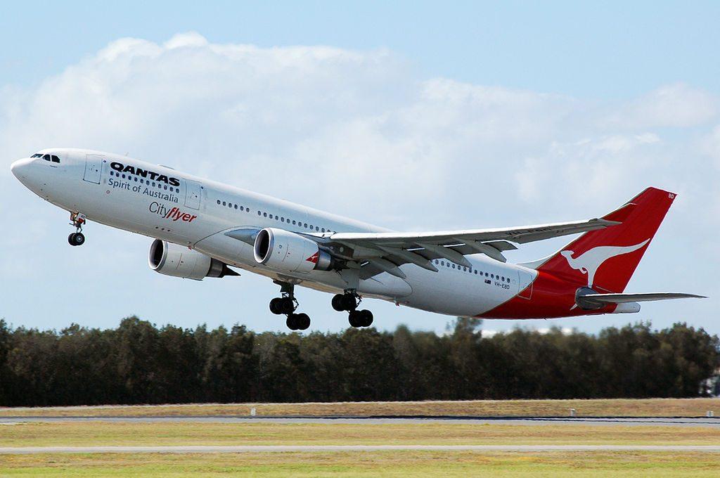 Qantas VH EBD Airbus A330 200 Traralgon at Brisbane Airport
