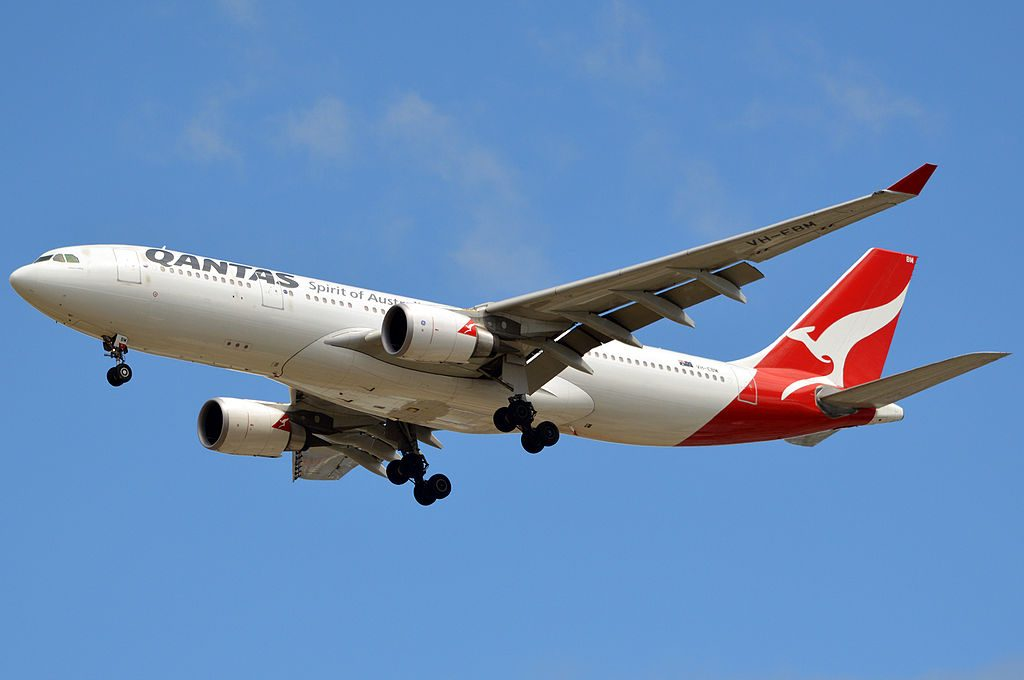 Qantas VH EBM Tamar Valley Airbus A330 202 at Brisbane Airport