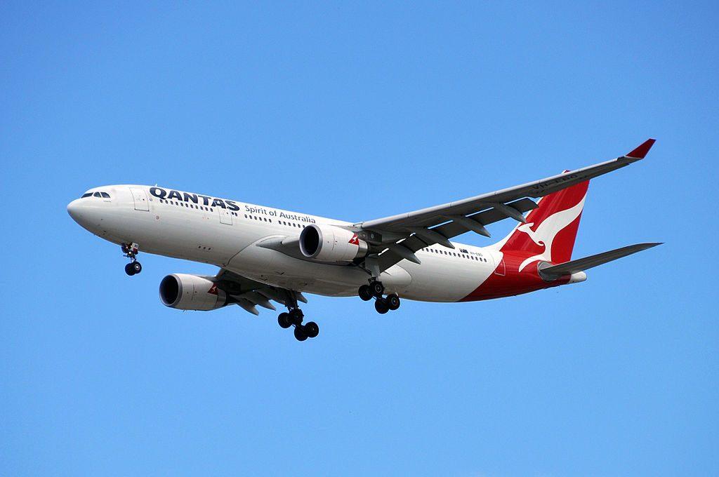 Qantas VH EBO Kimberley Airbus A330 202 at Brisbane Airport
