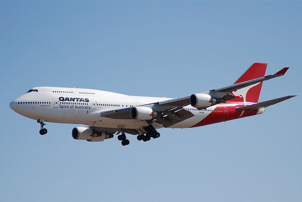 Qantas VH OEI Boeing 747 438ER Ceduna at Los Angeles International Airport