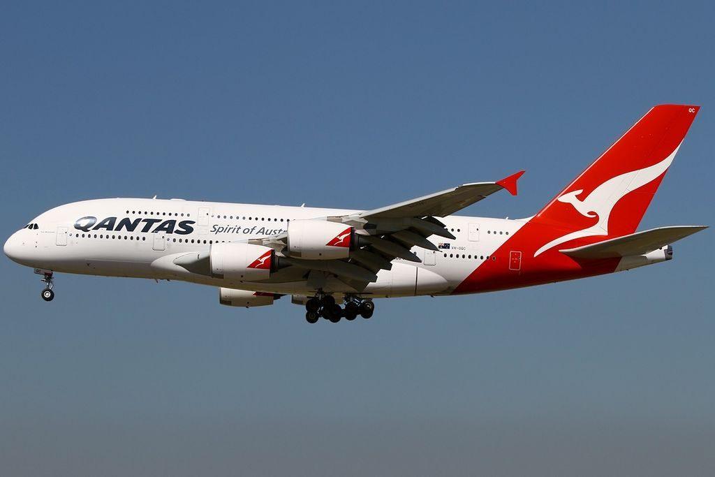 Qantas VH OQC Airbus A380 842 Paul McGinness at Frankfurt Airport